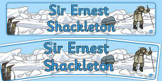 Ernest Shackleton Display Banner