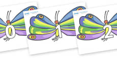 Numbers 0-31 on Butterflies to Support Teaching on The Very Hungry Caterpillar