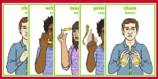 New Zealand Sign Language School Display Posters