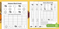 Autumn Count and Graph Activity Sheet