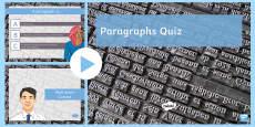 Paragraphs PowerPoint Quiz