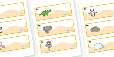 Beetle Themed Editable Drawer-Peg-Name Labels