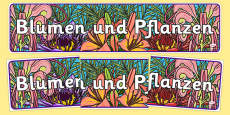 Plants and Flowers Display Banner German