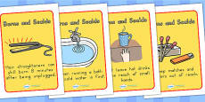 Scalds and Burns Safety Posters - Australia
