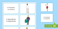 Jobs and Career Choices Matching Cards Spanish