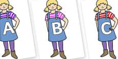 A-Z Alphabet on Little Girl