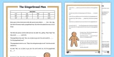 The Gingerbread Man Traditional Tale Cloze Procedure Differentiated Activity Sheet Pack