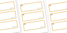 Leopard Themed Editable Drawer-Peg-Name Labels (Blank)