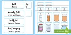 Capacity Matching Cards English/Welsh