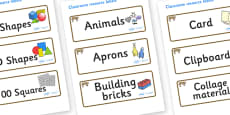 Bobcat Themed Editable Classroom Resource Labels