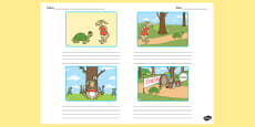 The Tortoise and the Hare Storyboard Template
