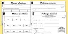 Making a Sentence Differentiated Activity Sheet Pack