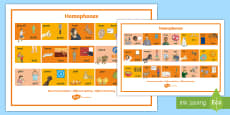 Homophones Visual Word Mat