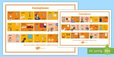 Homophones Visual Word Mat