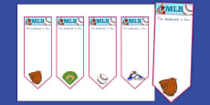 Baseball Themed Bookmarks