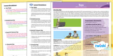 History: Toys KS1 Planning Overview CfE