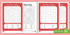 Red Nose Day Word Search