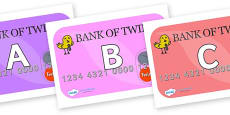 A-Z Alphabet on Debit Cards