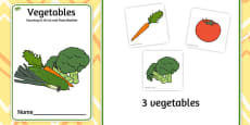 Vegetable Counting to 10 Cut and Paste Booklet