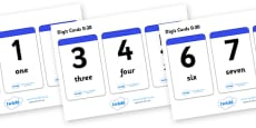 Number & Word Digit Cards 0-30