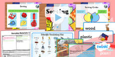 Science: Everyday Materials: Sorting Year 1 Lesson Pack 6