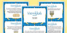 Hanukkah Display Fact Cards Polish Translation
