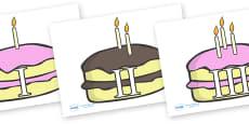 0-10 Roman Numerals (Birthday Cakes)