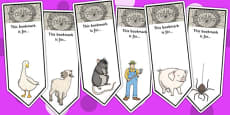 Charlotte's Web Editable Bookmarks
