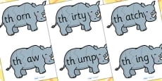 th i Sound And Vowel Animal Jigsaw