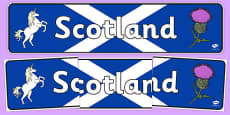 Scotland Role Play Display Banner