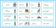 The Prodigal Son Word Cards