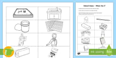 * NEW * School Items - What Am I? Picture Game
