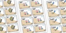 Buzzard Themed Editable Book Labels