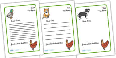 Little Red Hen Letter from Hen Writing Template