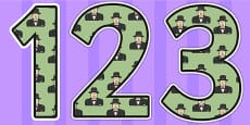 Winston Churchill Themed Display Numbers