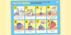 Cup of Tea Algorithm Computing Curriculum Vocabulary Poster (Australia)