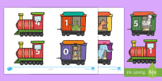 * NEW * Number Bonds to 5 on Trains and Carriages Cut-Outs