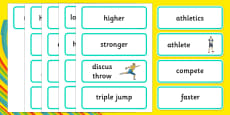 The Olympics Athletics Word Cards