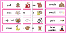 Hinduism Word Cards