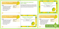 EYFS Message on a Banana Science Experiment and Prompt Card Pack