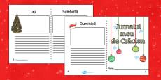 Jurnalul meu de Crăciun - Fișe pentru scriere