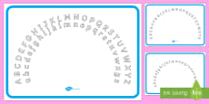 Plain Alphabet Arc Upper and Lower Case