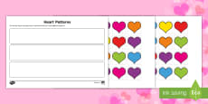 Repeating Heart Patterns Activity Sheet
