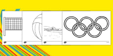 Rio 2016 Olympics Beach Volleyball Colouring Sheets