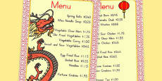 Australia - Chinese Restaurant Price Guide Penny Shop