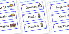 Great Britain Themed Editable Construction Area Resource Labels