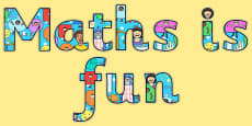 Maths is Fun Display Lettering
