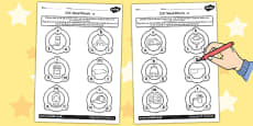 CVC Word Wheel Activity Sheets a