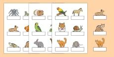 Editable Self Registration Labels (Pets)