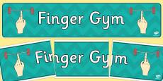 Finger Gym Display Banner